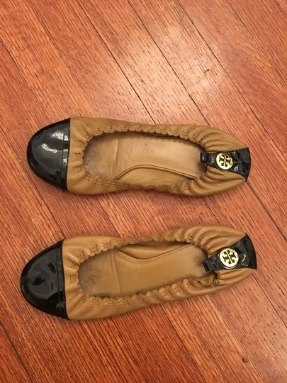 Tory Burch black + tan Flats Image 2