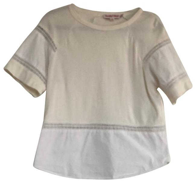 Preload https://img-static.tradesy.com/item/26030951/see-by-chloe-white-and-cream-t-shirt-style-blouse-tee-shirt-size-4-s-0-2-650-650.jpg