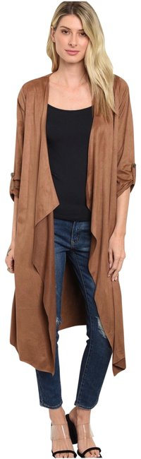 Preload https://img-static.tradesy.com/item/26030953/brown-cascading-front-longline-cardigan-size-4-s-0-1-650-650.jpg