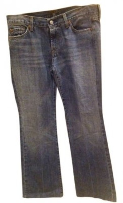 Preload https://item2.tradesy.com/images/7-for-all-mankind-lightly-blue-wash-dark-rinse-cut-103050-flare-leg-jeans-size-31-6-m-26031-0-0.jpg?width=400&height=650