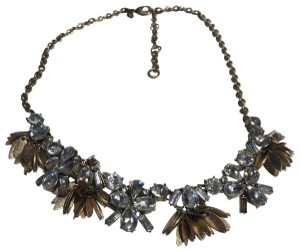 J.Crew J crew statement necklace with floral crystals and gold setting