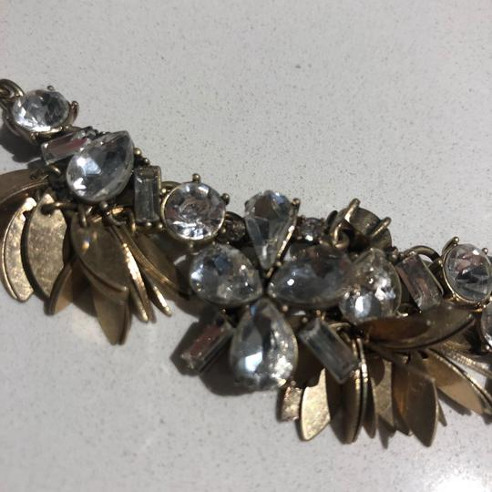 J.Crew J crew statement necklace with floral crystals and gold setting Image 3