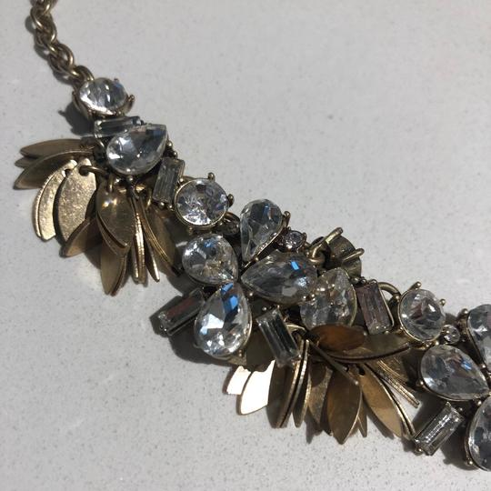 J.Crew J crew statement necklace with floral crystals and gold setting Image 4