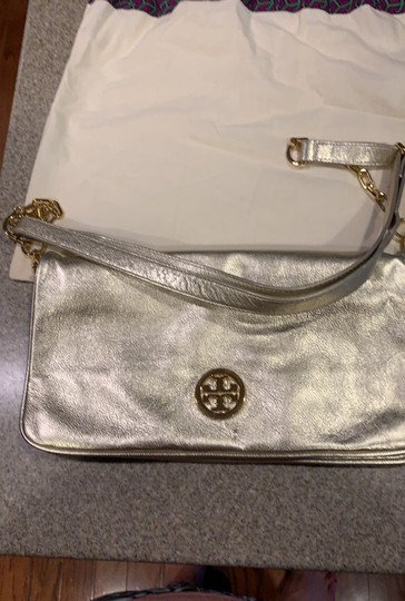 Tory Burch gold Clutch Image 2