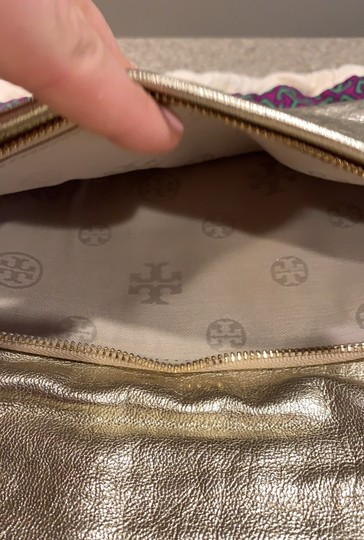Tory Burch gold Clutch Image 5