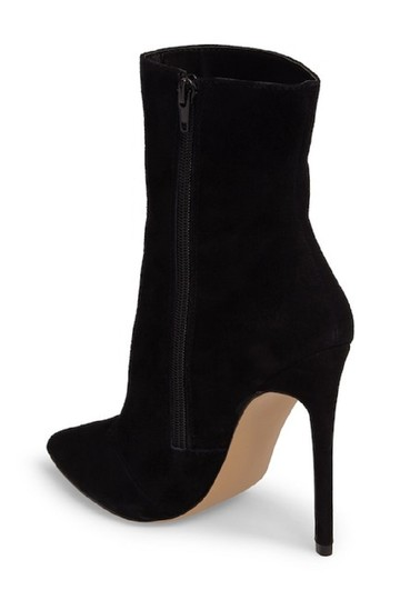 Steve Madden Pointed Toe Suede Leather Ankle Black Boots Image 4
