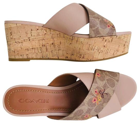Coach Tan Wedges Image 0
