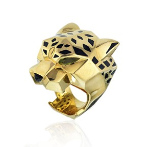 Cartier Large Panthere Head 18K Ring SZ6