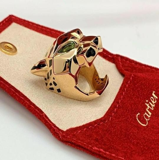 Cartier Large Panthere Head 18K Ring SZ6 Image 3