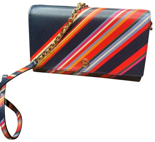 Preload https://img-static.tradesy.com/item/26031084/tory-burch-clutch-vinylleather-stripe-chain-walletclutchcrosby-blueredmultigold-grainy-vynil-leather-0-2-540-540.jpg