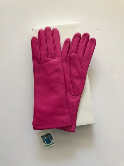 Portolano Mid Length Leather and Cashmere Gloves Size 7 Image 5