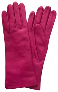 Portolano Mid Length Leather and Cashmere Gloves Size 7