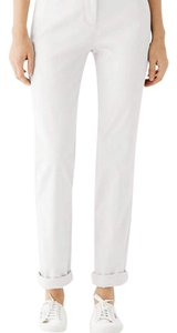 J. Jill Stretchy Monochrome Cotton Pockets Relaxed Khaki/Chino Pants White