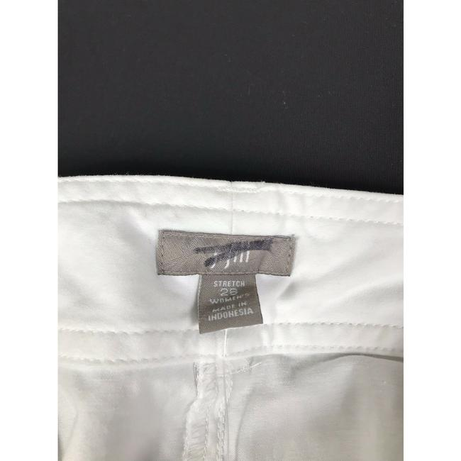 J. Jill Stretchy Monochrome Cotton Pockets Relaxed Khaki/Chino Pants White Image 2