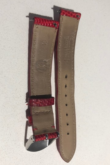 Michele Michele 18mm Red Textured Calfskin Strap MS18AA720600 Image 1