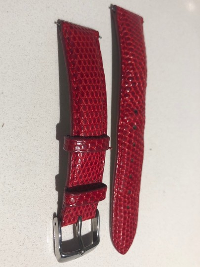 Michele Michele 18mm Red Textured Calfskin Strap MS18AA720600 Image 2