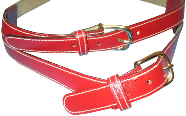 Item - Red Double Buckle Belt