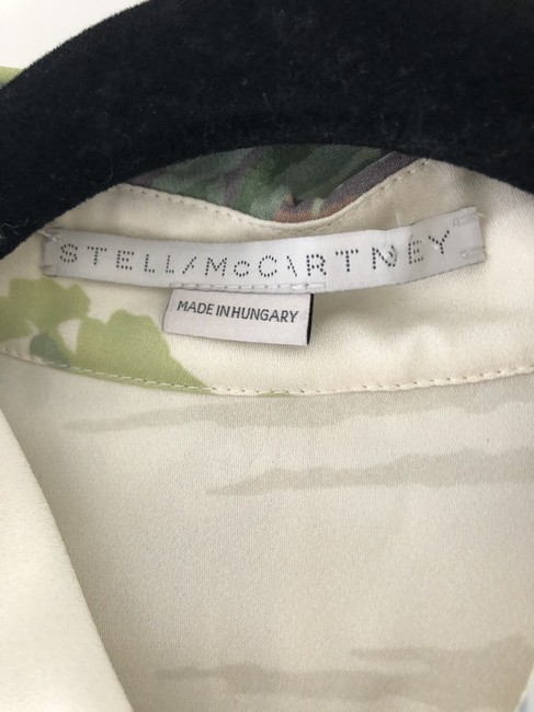 Stella McCartney Nyc Button Down Shirt Off White/Greens/Browns Image 9