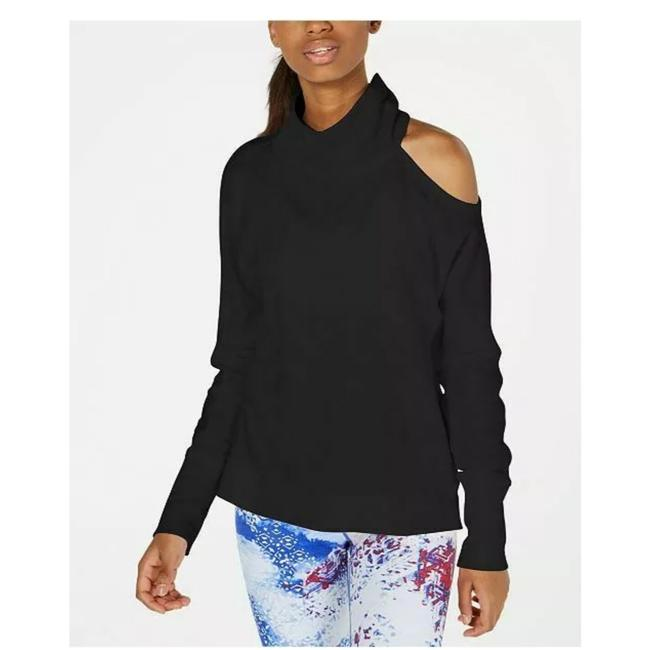 Preload https://img-static.tradesy.com/item/26031269/calvin-klein-black-cold-shoulder-mock-neck-activewear-top-size-16-xl-plus-0x-0-0-650-650.jpg