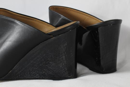 The Row Wedge Heels Black Mules Image 5