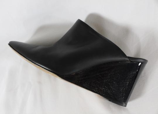 The Row Wedge Heels Black Mules Image 9
