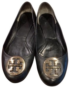 Tory Burch black with gold accent Flats