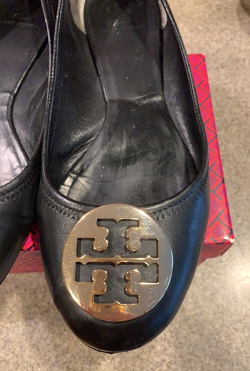 Tory Burch black with gold accent Flats Image 1