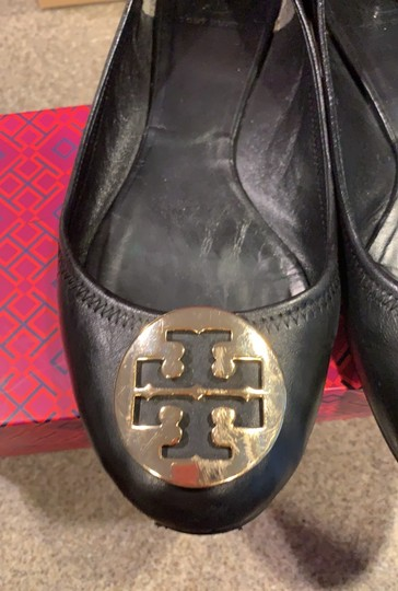 Tory Burch black with gold accent Flats Image 2