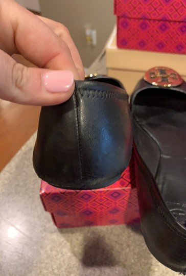 Tory Burch black with gold accent Flats Image 6