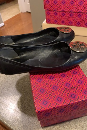 Tory Burch black with gold accent Flats Image 8