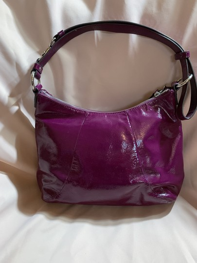 Coach Patent Leather Hobo Bag Image 1