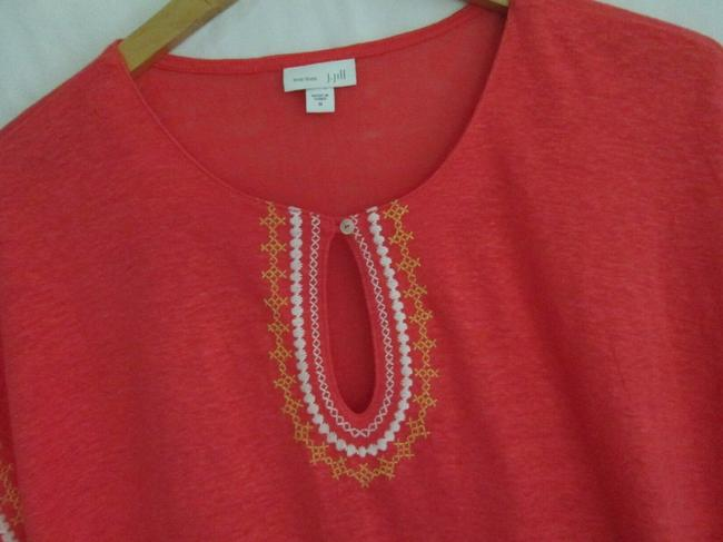 J. Jill Keyhole Linen Knit Embroidered Cover Up Tunic Image 5