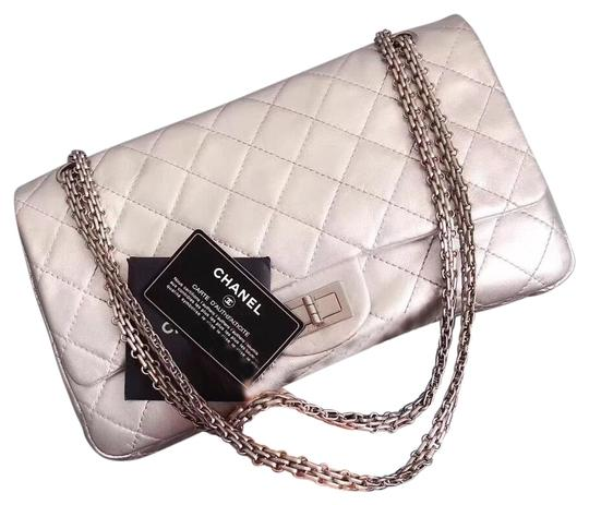 Preload https://item4.tradesy.com/images/chanel-255-reissue-double-flap-quilted-225-silver-lambskin-leather-cross-body-bag-26031413-0-3.jpg?width=440&height=440