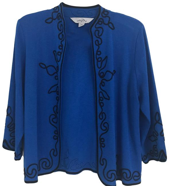 Preload https://img-static.tradesy.com/item/26031461/ming-wang-embroidered-jacket-black-and-blue-sweater-0-2-650-650.jpg