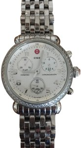 Michele Michele Silver watch with diamonds and mother of pearl chronograph 36m