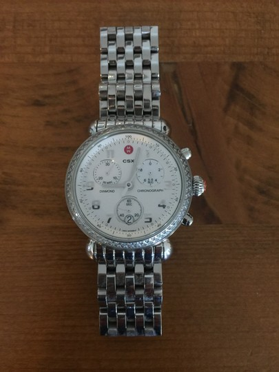Michele Michele Silver watch with diamonds and mother of pearl chronograph 36m Image 1