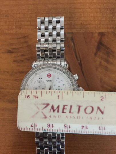 Michele Michele Silver watch with diamonds and mother of pearl chronograph 36m Image 2