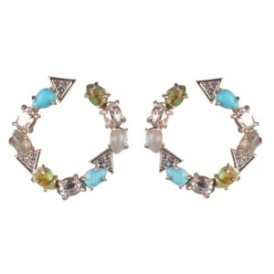 Alexis Bittar Coiled post multi Stone earring