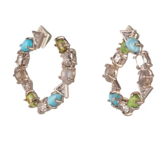 Alexis Bittar Coiled post multi Stone earring Image 1