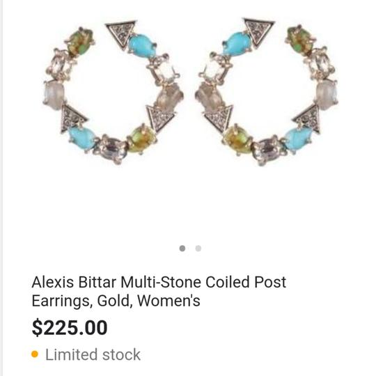Alexis Bittar Coiled post multi Stone earring Image 3