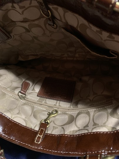 Coach Leather Detail Tote in Brown Image 1