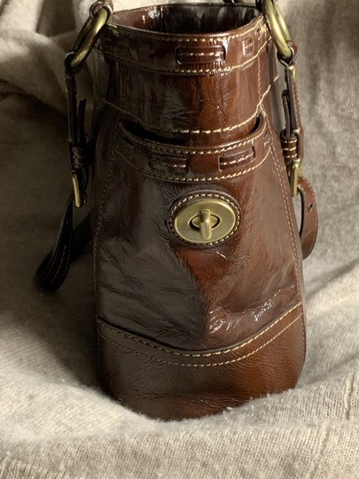 Coach Leather Detail Tote in Brown Image 4