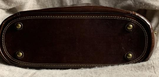 Coach Leather Detail Tote in Brown Image 5