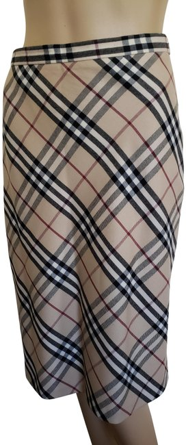 Item - Beige Multicolor London Nova Check Skirt Size 4 (S, 27)