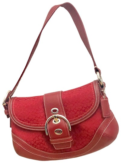 Preload https://img-static.tradesy.com/item/26031578/coach-shoulder-bag-red-canvas-and-leather-baguette-0-3-540-540.jpg