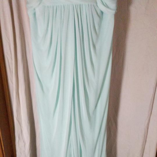 David's Bridal Mint Green Polyester Nylon and Lace Unknown Formal Bridesmaid/Mob Dress Size 8 (M) Image 3