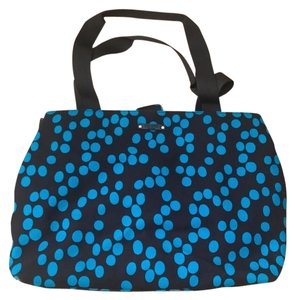 Kate Spade Brown & Blue Polka Dot Diaper Bag