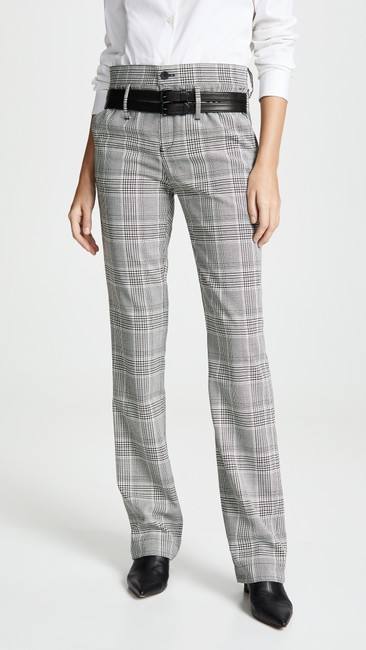 RtA Plaid Belted Trouser Pants Image 1