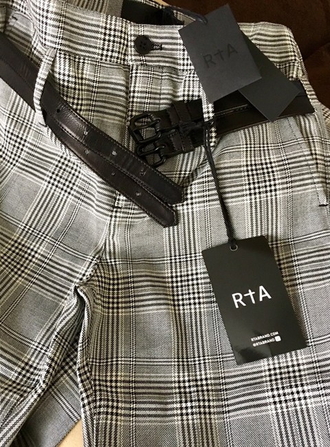RtA Plaid Belted Trouser Pants Image 9