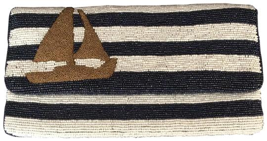 Preload https://img-static.tradesy.com/item/26031667/moyna-sailboat-striped-foldover-navy-white-and-gold-beaded-clutch-0-2-540-540.jpg